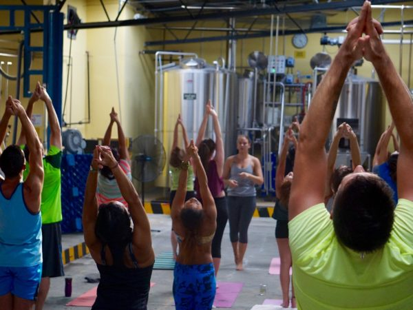 Yoga at the Brewery. La Rana Dorada and Casco Yoga Panama. Maya Daivis. August 12, 4 pm. Panama city, Panama. Events Panama.