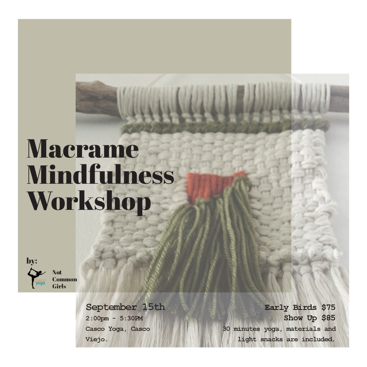 Macrame Mindfulness Workshop, Not Common Girls, Casco Yoga Panama, Yoga Studio. Casco Viejo. Panama City, Panama. Yoga Panama. Ashtanga yoga panama. Vinyasa yoga panama. clases de yoga en panama. Casco Antiguo Panama. boutique yoga studio