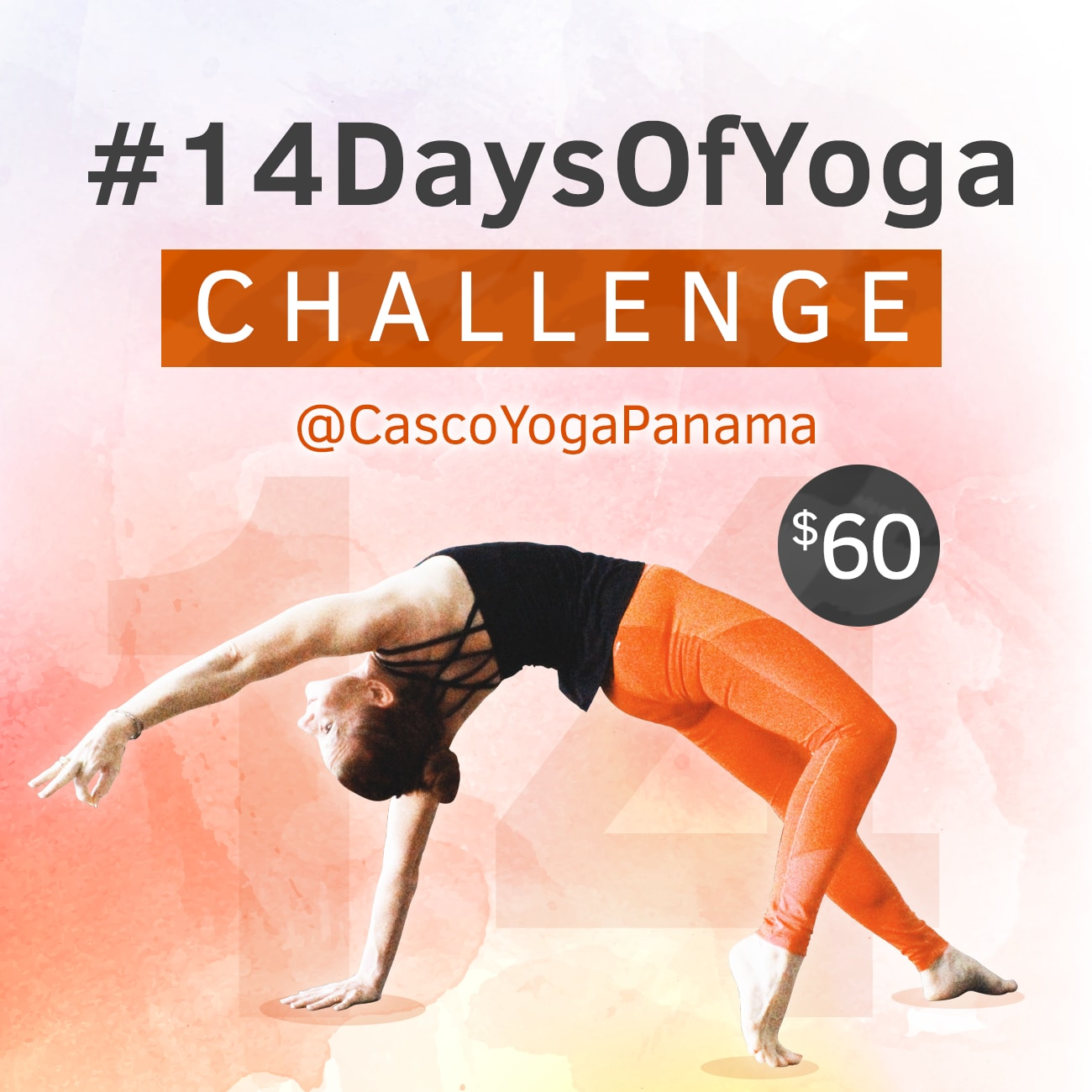 14 Days Of Yoga Challenge at Casco Yoga Panama, Casco Viejo. Panama City. Yoga En Panama